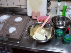 チーズケーキ作り過程 1