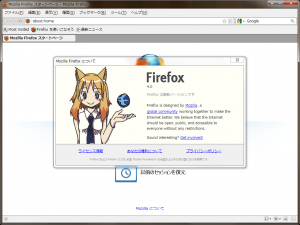 About Firefox-ko 4.0 beta Screenshot