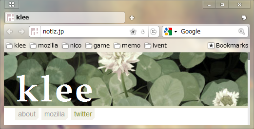 Firefox Button for Shine 2.0 sample